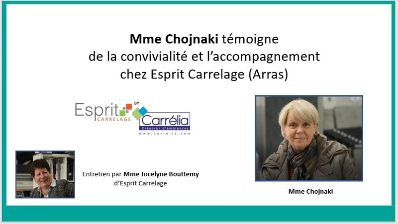 Mme Chojnaki témoigne de son expérience Esprit