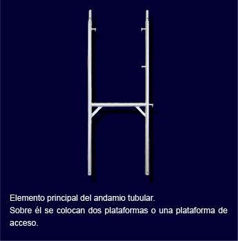 Elemento principal y vital del andamio modular SOLID H. Sobre él se colocan las plataformas, ya sean de acero galvanizado o de acceso.