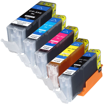 Ink cartridges compatible to PGI-550/CLI-551 -chip-