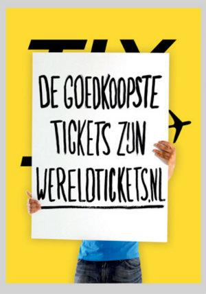 Wereldtickets.nl , a Dutch online provider of cheap airline tickets is relatively new to the industry and therefore had a smaller budget. We helped them set themselves apart, fast. Concept: Protest.