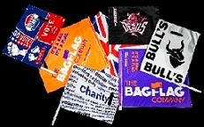 The Flag that converts to a Bag after use.  Any market sector, any company or team,  wave or carry to put your brand in the hands of your fans
