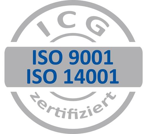 Zertifiziert ISO 9001 und 14001:2015