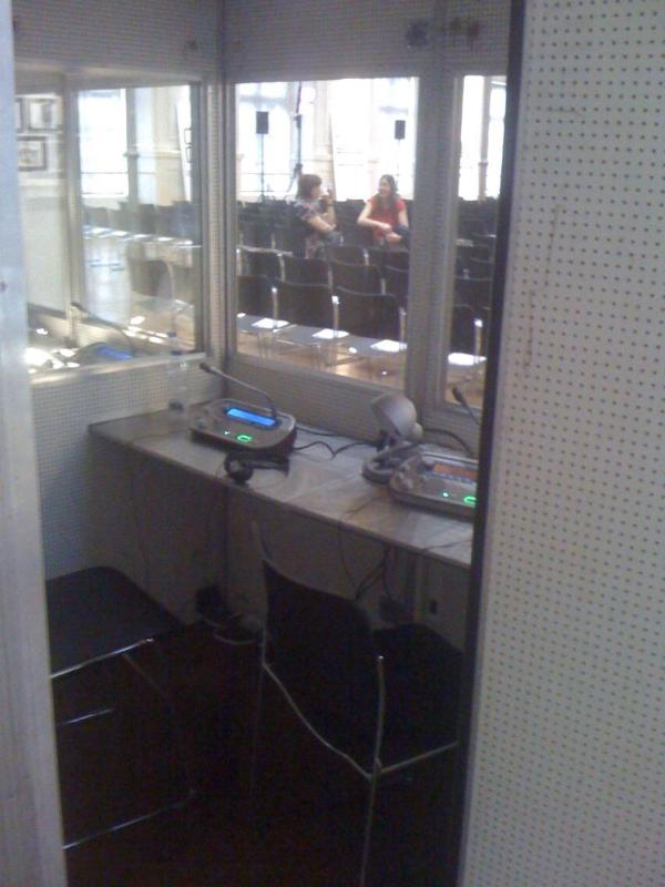 Interpreting booth