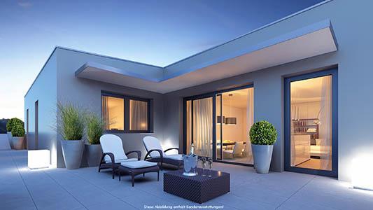 Bauvorhaben wie Eigentumswohnungen, Gartenwohnungen als auch Doppelhäuser in Österreich und Deutschland.