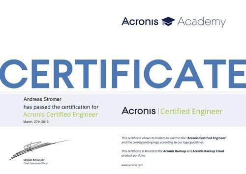 Acronis | Certified Engineer