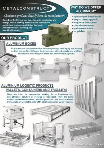 We produce tailor-made aluminium products as per our customer need