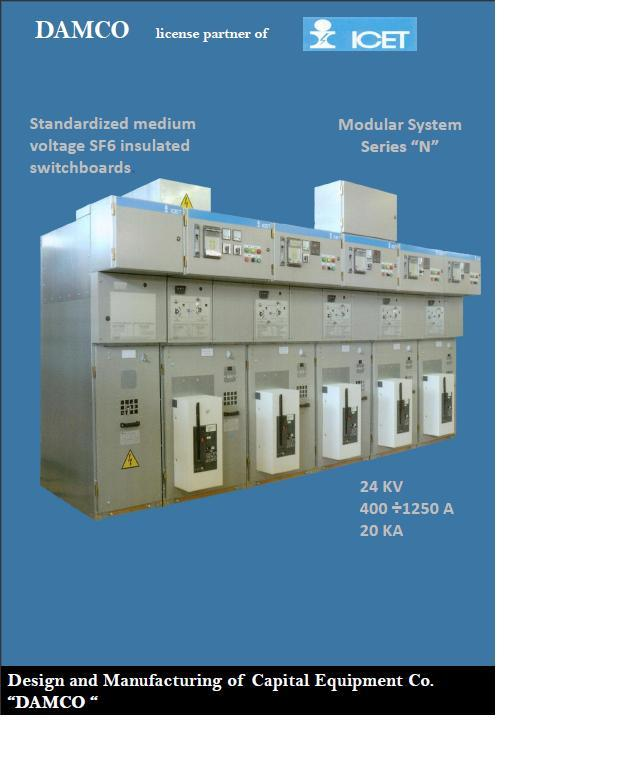 """We have SF6-RMU's for medium voltage up to 24 KV.Each RMU consists of (2RC+1T).The SF6-switch is of category """"E3"""" for Electrical endurance,The manufacturer is ICET Co. in Italy"""