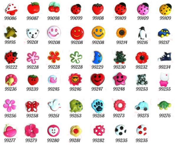 Guziki dziecięce - kids buttons
