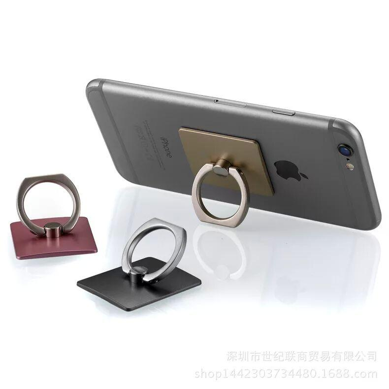 Universal ring stand /holder for all types of smartphones,tablets and more. Ring can rotate 360 degrees and swivels 180 degrees.Attached ring for drop-free grip. Provides a convenient and secure grip