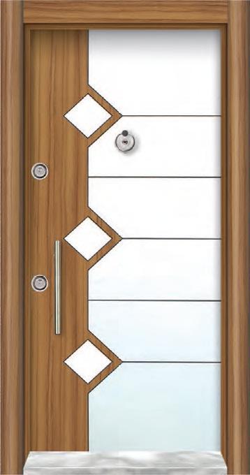 Double Color  Laminoks Steel Doors