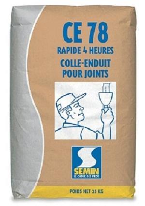 Produit destiné à la réalisation des joints de plaques de plâtre à bords amincis en association avec une bande à joint. Sacs de 25 kg. Temps de prise : 4 H.