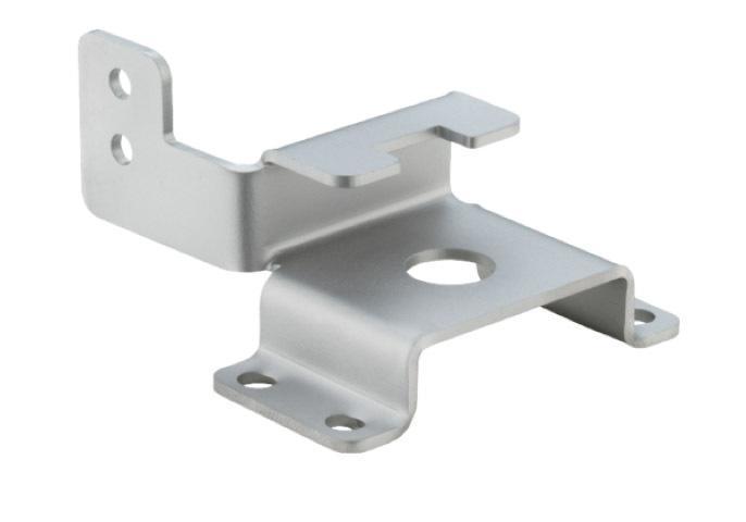 Materiale: acciaio S235JR, sabbiato - Lavorazione: taglio laser e piegatura