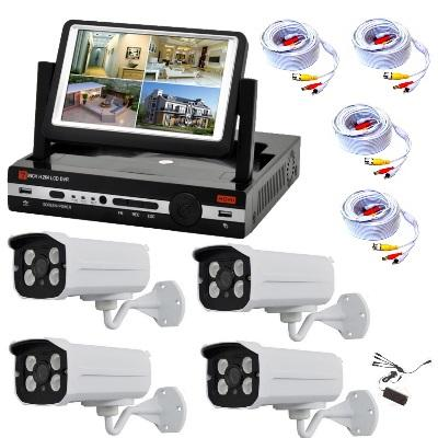 COMPLETE KIT AHD CAMERAS WITH ARRAY LED, KIT HAVE CABLE AND MONITOR TV 7""