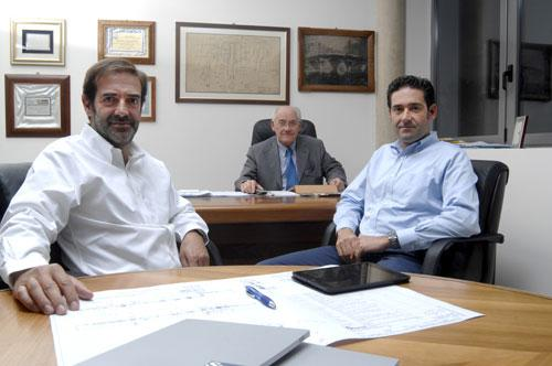 Da sinistra: Michele Storci, Anzio Storci e Simone Storci
