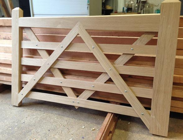 Handcrafted wooden gates made in our workshop near Bury St Edmunds.