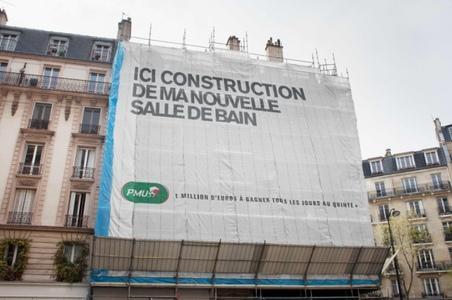 Bâches de façades pour travaux publics et privés