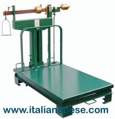 Bascula a rapporto con romano , Questo tipo di strumento di pesatura è  da sempre indispensabile a tutte le industrie. Le sue dimensioni sono ridotte,  costruita totalmente in ferro stampato.