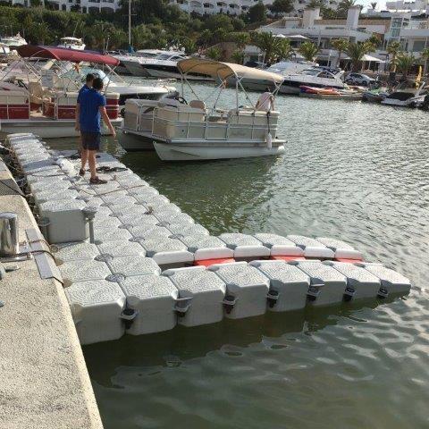 Floating dock with jet ski dock