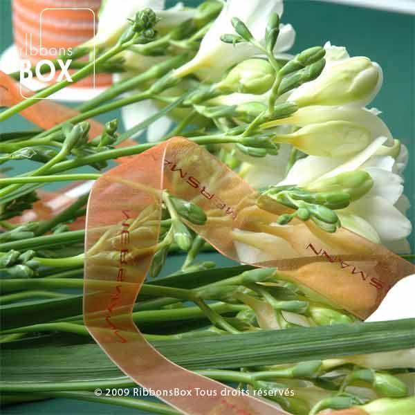 Organza mousseline à lisière tissée