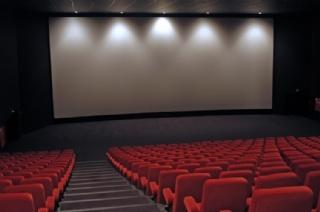 Cinéma - écran tendu sur cadre aluminium cintré