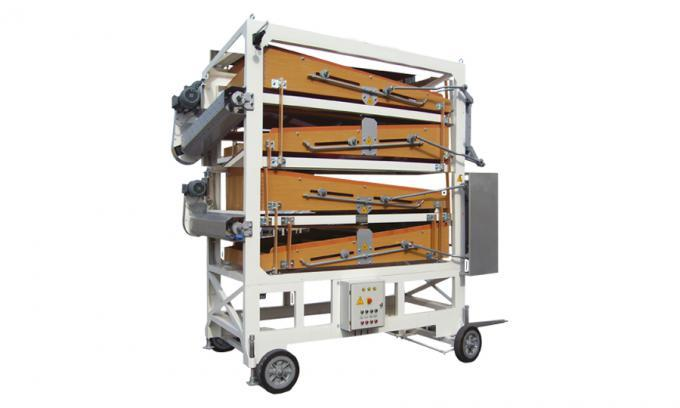 This machine enables the user to grade the product to four sizes, separate the broken grains out. It can be installed before the color sorter machines.