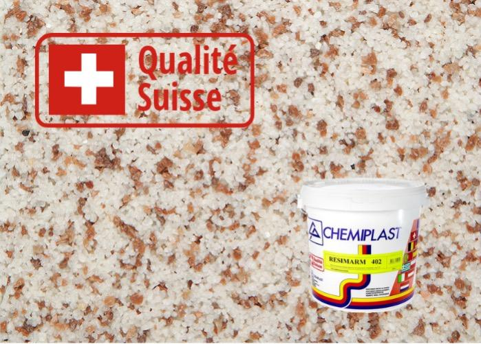 Marble plaster for facades and interiors