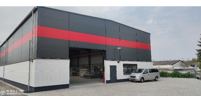 New steel work manufacturing hall