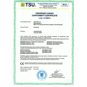 The EC Certificate of Conformity