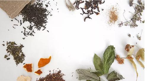 Tee, Gewürze, Pulver
