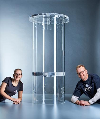 Versuchsbehälter aus 610mm Acrylglasrohr