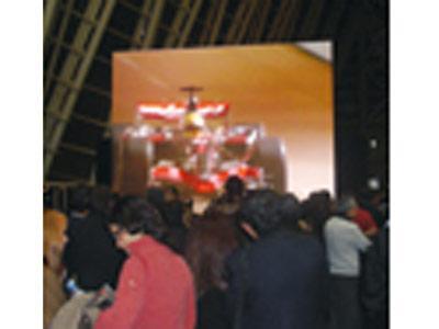 Pantalla gigante de 30 m2, sonorizacion, iluminacion del Museo Principe Felipe de la Ciudad de las Artes y de las Ciencias de Valencia.