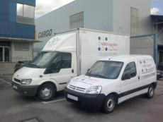 With our own vehicles we give a complementary service to air cargo ops
