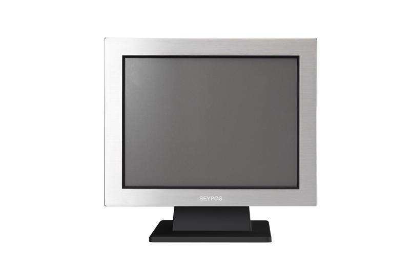 """El terminal SEYPOS795 es un terminal metálico integrado en un marco de acero inoxidable que cuenta con una  pantalla  táctil  """"ELO Touch"""" resistente al agua y a la entrada de suciedad y polvo."""