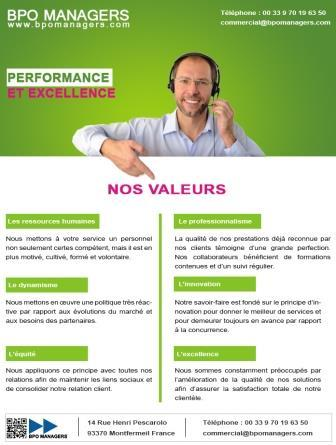 BPO MANAGERS - Performance et excellence