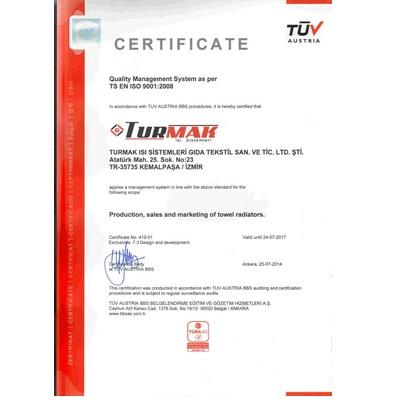ISO 9001:2008 TOTAL QUALITY CERTIFICATE