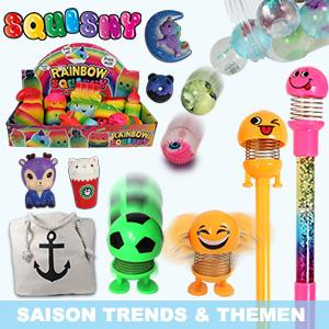 Seasonal items & trend items, bestsellers, fast-moving gift items,