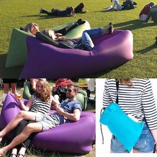 Festival sitsac zitzak beanbag festival inflatable lamsak opblaaszitzakken