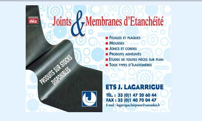 Lagarrigue (EJL : Etablissements Jean Lagarrigue): joints et membranes d'étanchéités, joints et membranes universels, fabrication de membranes,  joints et membranes découpés, membranes en élastomère.