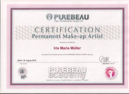 Zertifikat (english)