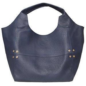 Navy blue handbag from Bolsos Sakelo