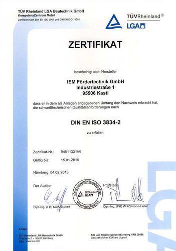 DIN EN ISO 3834-2 EN 1090-2