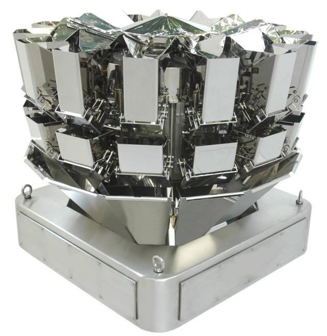 Multihead weighers of 10,14 or 18 heads for all kind of products.