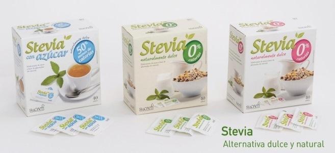 Edulcorante de origen natural a base de Stevia.  Formatos para retail, horeca y farmacia.