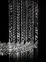 Lavorazione di catena a macchina sia piena che vuota in oro e argento.