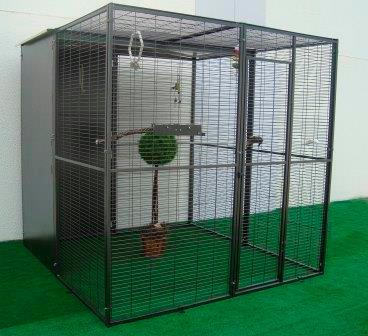 Modular parrot aviary. 2x2x2 meters.