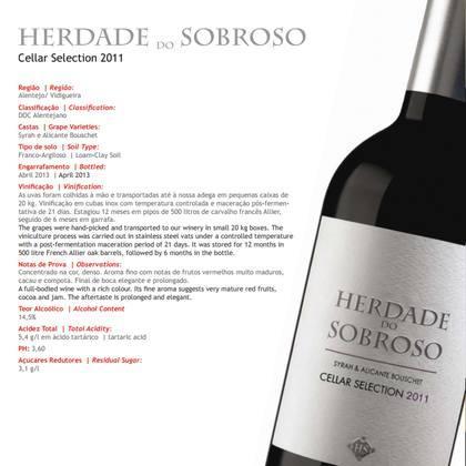 Herdade do Sobroso Cellar Selection 2011