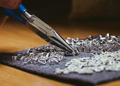 Silver jewellery semi-components