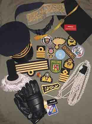 Hand and Machine Embroidered Badges Patches, Shoulder Strap Epaulettes Cap Visor Aiguillettes Strap Gloves Belt  Insignia with Velcro rank Badges Braid Ribbon  Fringes sword knot uniform Trimming etc.