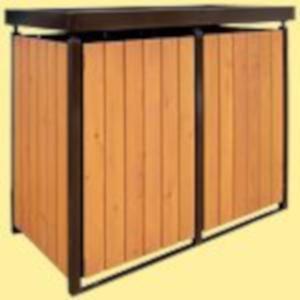 Müllbox vorgerichtet für Holz