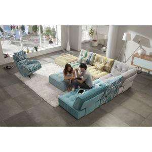 Un canapé modulable selon vos envies : choix des tissus pour chaque module, profondeur de l'assise...Canapé original et contemporain pour égayer votre intérieur!